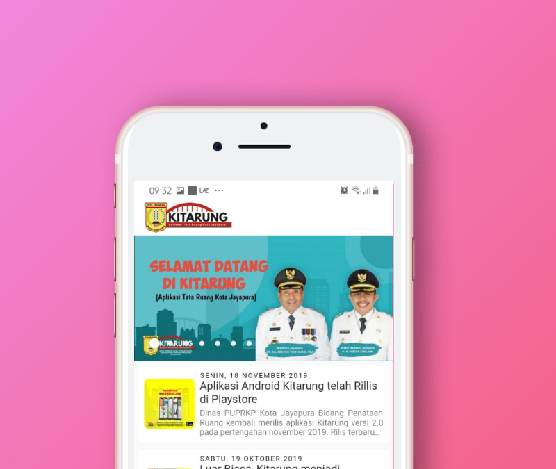 Kini Aplikasi Kitarung Kota Jayapura Hadir di Playstore